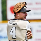 Chris DeClerico with Hopewell, N.J., Post 339 warms up before his team faces off against Lewiston, Idaho, Post 13 during game 11 of The American Legion World Series on Sunday, August 13, 2017 in Shelby, N.C.. Photo by Matt Roth/The American Legion.