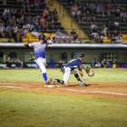 David Hudleson of Henderson, Nev., Post 40 beats Dillon Zona of Shrewsbury, Mass., Post 397 to first during game 6 of The American Legion World Series on Friday, August 11, 2017 in Shelby, N.C.. Photo by Matt Roth/The American Legion.