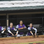 Members of the Shrewsbury, Mass., Post 397 watch a fly ball hit by their teammate facing off against Omaha, Neb., Post 1 during game 9 of The American Legion World Series on Saturday, August 12, 2017 in Shelby, N.C.. Photo by Matt Roth/The American Legion.