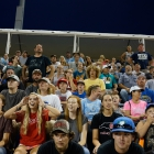 Randolph County, N.C., Post 45 fans react to a play during game 12 of The American Legion World Series on Sunday, August 13, 2017 at Veterans Field at Keeter Stadium in Shelby, N.C. Photo by Matt Roth/The American Legion.
