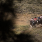 Jason March, third from left, rides a horse through the California landscape as a part of an Operation Comfort Warriors grant during The American Legion's 99th annual National Convention in Truckee, Calif., on Saturday, August 19, 2017 Photo by Lucas Carter/The American Legion.