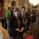 Joni Ernst (R-IA) chats with Olivia Cowart, Haley Hall, Keven Hernandez Nuno and Ethan Lowder in the Senate Reception Room in the US Capitol Building as American Legion Boys Nation and American Legion Auxiliary Girls Nation take to Capitol Hill to meet with their senators and legislative staff on Thursday, July 27, 2017. Photo by Lucas Carter / The American Legion.
