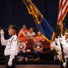 Newport Harbor Post 291 of Newport Beach, Calif., compete in the 2017 American Legion Color Guard Contest, held on Friday, August 18, 2017 at Reno-Sparks Convention Center in Reno, Nev. Photo by Lucas Carter/The American Legion.