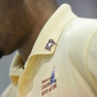 Alabama Nationalist Darius Thomas wears a pin he received from a Minnesota senator on Friday, July 28, 2017. Photo by Clay Lomneth / The American Legion.