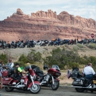 The American Legion Riders take a break at the Black Dragon Canyon view point in Utah on Monday, August 14, 2017. Photo by Clay Lomneth / The American Legion.