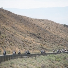 """The Legacy Run travels on Highway 50 in Nevada, also known as """"The Loneliest Highway in America"""" on Wednesday, August 16, 2017. Photo by Clay Lomneth / The American Legion."""