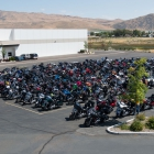 The Legacy Run bikes at the Battle Born Harley Davidson in Carson City, Nev. on Thursday, August 17, 2017. Photo by Clay Lomneth / The American Legion.