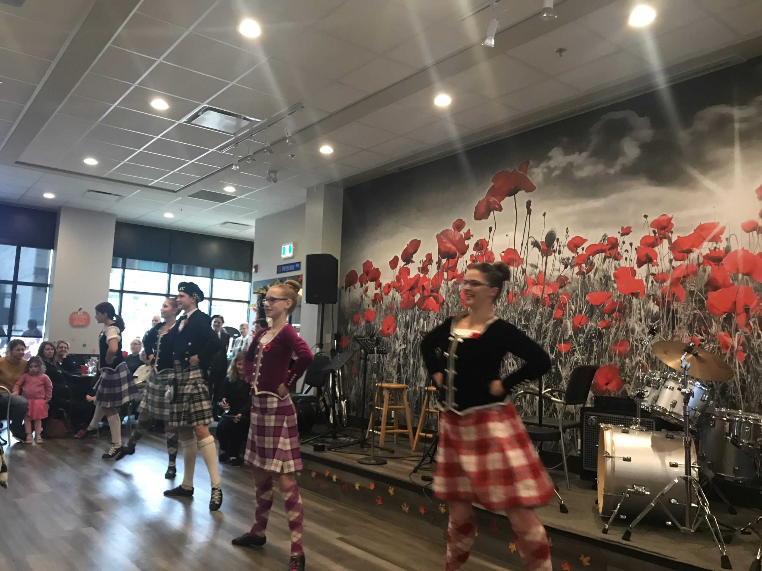Dancers in Legion 119 on Remembrance Day 2019