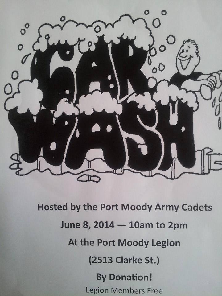 Army Cadet Car Wash June 2014 - at Legion 119