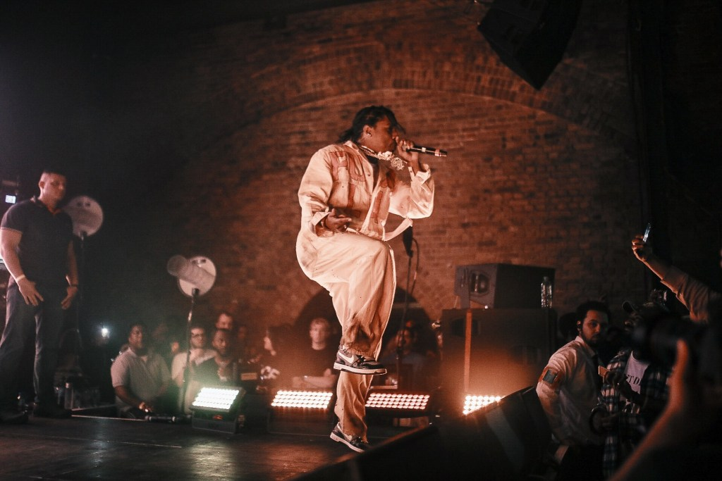 A$AP Rocky performs TESTING at secret London location