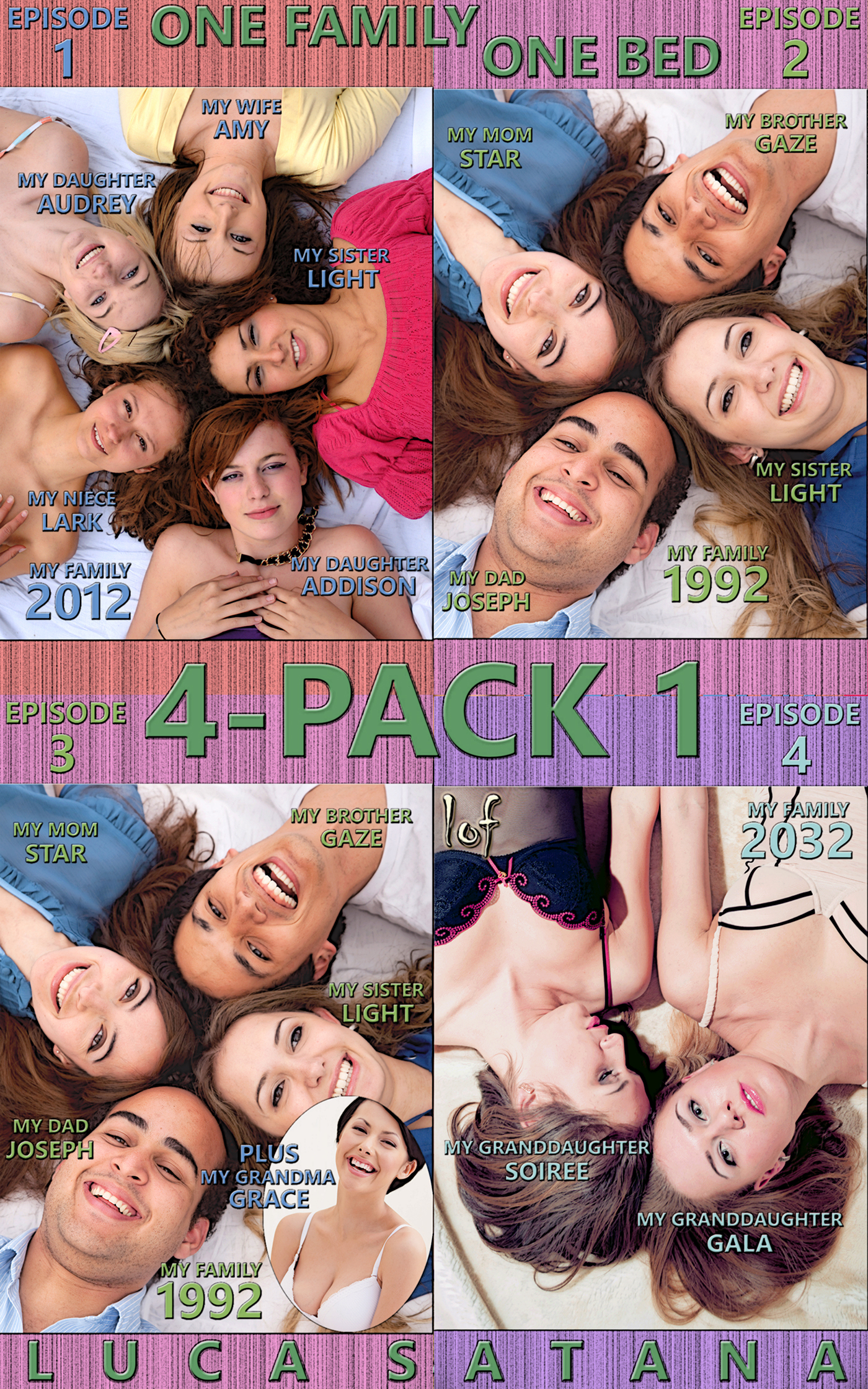 LOF New Release: One Family One Bed: 4-Pack 1 (Episode 1-4)