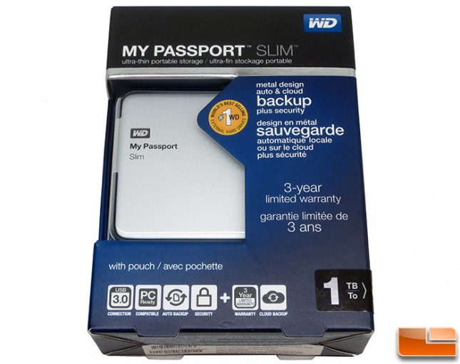 WD My Passport Slim 1TB Hard Drive