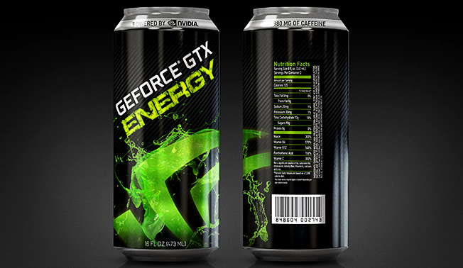 NVIDIA GeForce GTX Energy Drink Aimed At Gamers Announced Legit Reviews