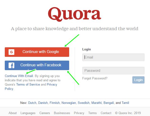 Quora Question & Answer Platform: Quora Registration Guide