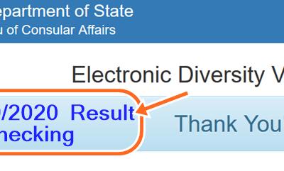DV 2019 Result Checking and DV-2020 Entrant Status Check