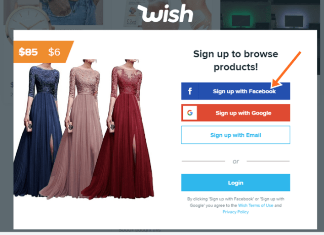 Wwwwishcom Wish Shopping Official Site Online Sign Up Login