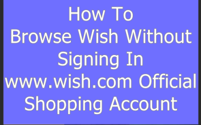 Wish Without Signing In – Wish Shopping Log In With Facebook Account