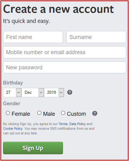 Facebook desktop site login on mobile