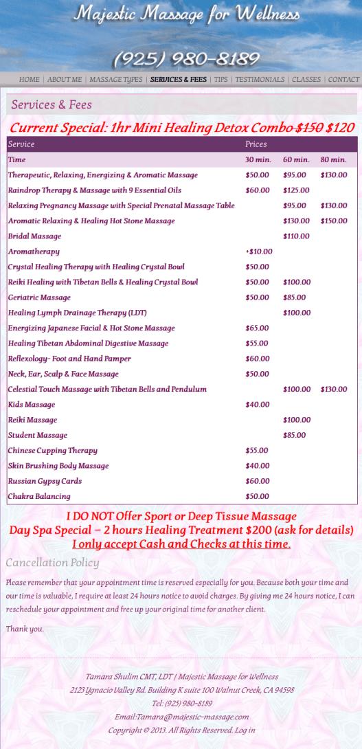 Majestic Massage Services