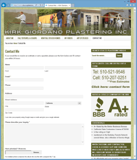 Stucco Plastering Contact Page