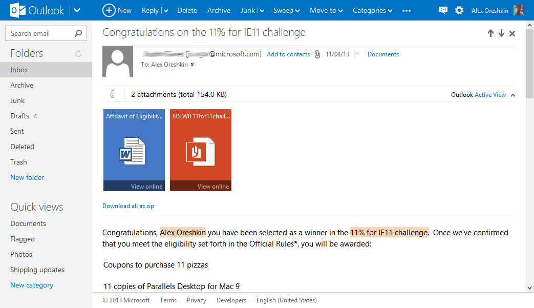 Outlook.com Webmail