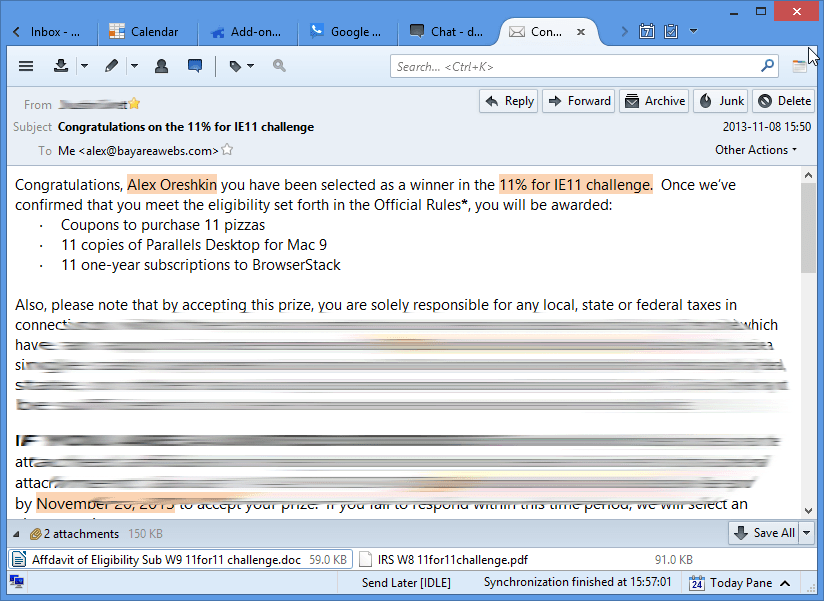 Outlook.com with desktop mail client Thunderbird