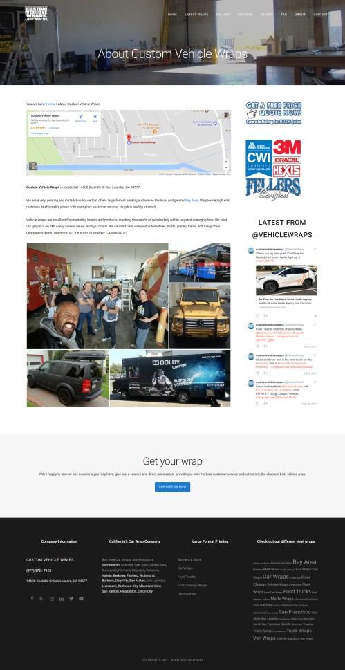 About Custom Vehicle Wraps