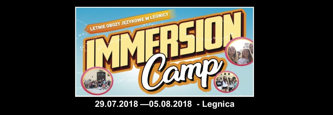 Immersion English Camp – Legnica 2018