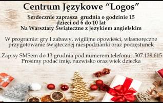 """Warsztaty Świąteczne Z Językiem Angielskim – Lubin – Centrum Językowe """"Logos"""""""