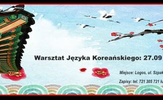 Warsztat Języka Koreańskiego 27-29.09 w Lubinie