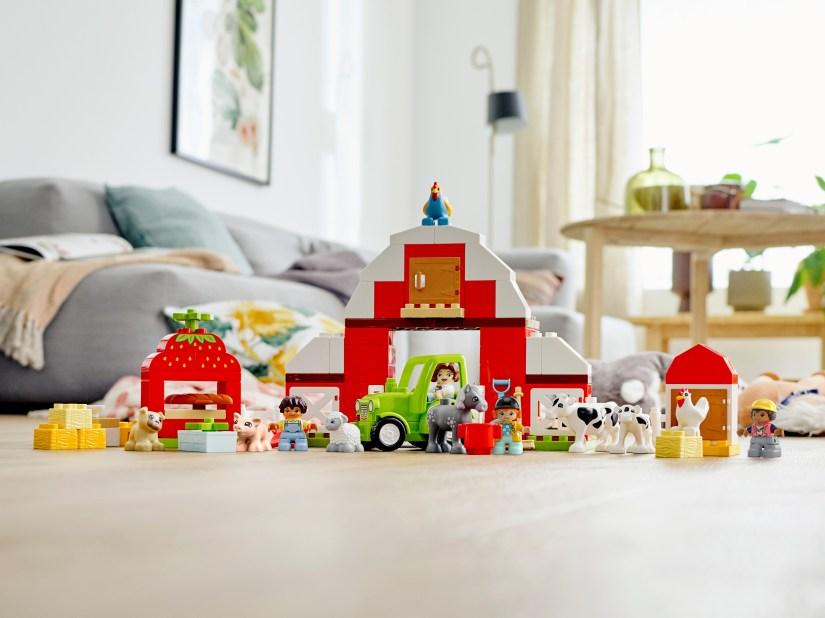 Modèle La grange, le tracteur et les animaux de la ferme de Lego DUPLO