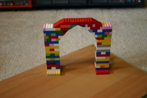 Iteration and efficiency     LEGO Engineering Arch Bridge