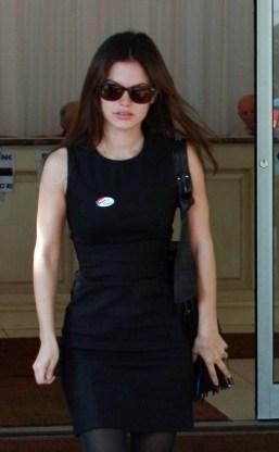 Rachel Bilson et Hayden Christensen eux aussi votent