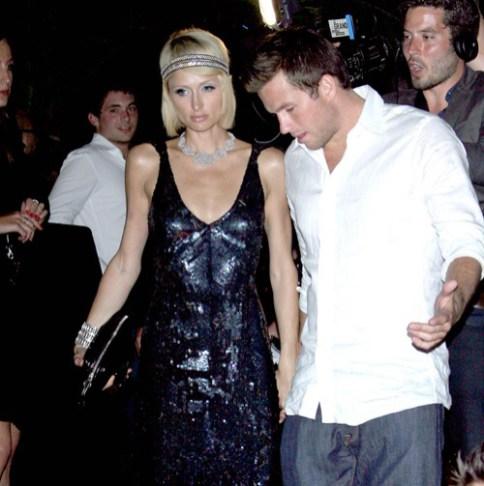 Paris Hilton et Doug Reinhardt à la fête de Christian Audigier