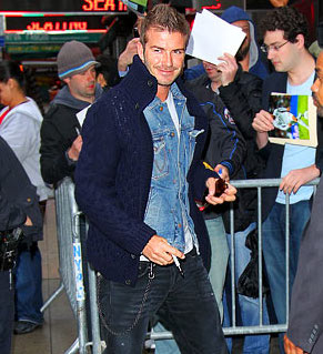 David Beckham Late Show With Photo