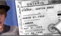 Justin Bieber Son acte de naissance dévoilé Photo