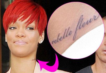 Rihanna fleur rebelle Preuve
