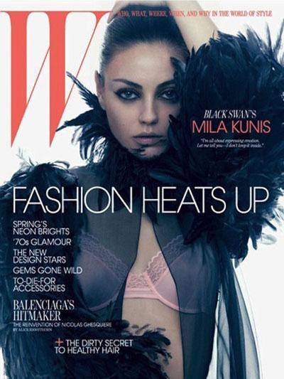 Mila Kunis se dévoile en Une de W