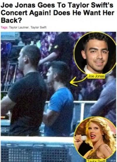 Joe Jonas ne lâche plus Taylor Swif.
