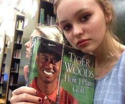 Lily-Rose inspirée par Tiger Woods