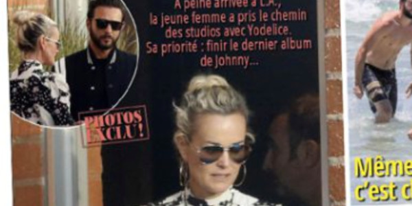 Laeticia Hallyday et Maxim Nucci bossent à fond sur l'album de Johnny (photo)