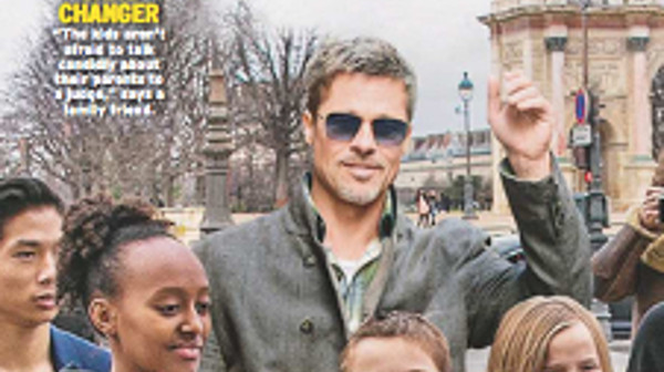 Brad Pitt met K.O Angelina Jolie, ses vacances joyeuses avec sa tribu à Paris (photo)