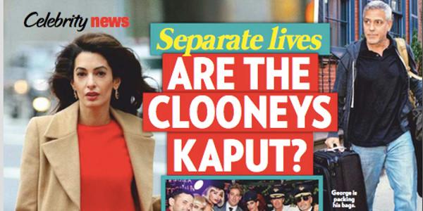 George et Amal Clooney trop différents,  mais toujours en couple ! (photo)