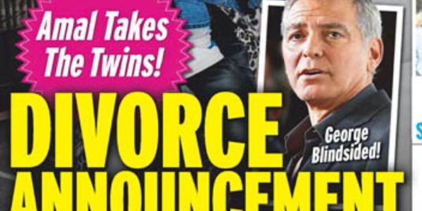 George et Amal Clooney, cette fois ça sent la fin, un divorce se profile (photo)