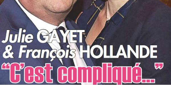 Julie Gayet et François Hollande, c'est compliqué (photo)