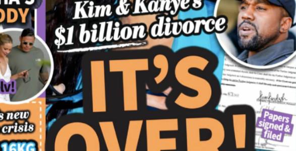 Kim Kardashian, divorce à un milliard de dollars avec Kanye West, la preuve