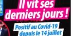 Renaud, il vit ses derniers jours, positif au covid-19 depuis le 14 juillet (photo)