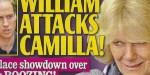 Prince William, Kate Middleton - salve humiliante - coup foireux contre Camilla Parker-Bowles (photo)