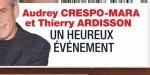 Audrey Crespo-Mara,  Thierry Ardisson -   Un heureux événement (photo)
