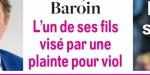François Baroin, l'un de ses fils visé par une plainte pour viol